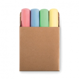 4 tizas de colores